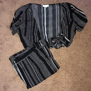 Two Piece Matching Top and Pants Set